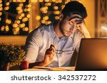 feeling exhausted. frustrated... | Shutterstock . vector #342537272