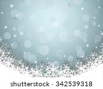 christmas background with... | Shutterstock .eps vector #342539318