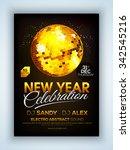 glossy flyer  banner or... | Shutterstock .eps vector #342545216