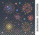 set of fireworks   Shutterstock .eps vector #342546836