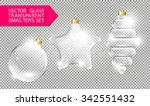 glass christmas tree toys... | Shutterstock .eps vector #342551432
