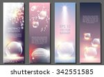 vertical abstract banner... | Shutterstock .eps vector #342551585