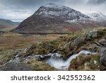 waterfall above llyn ogwen ... | Shutterstock . vector #342552362