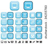 hardware computer  buttons with ... | Shutterstock . vector #34255783