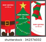 christmas invitation and... | Shutterstock .eps vector #342576032