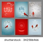 set of christmas brochures and... | Shutterstock .eps vector #342586466