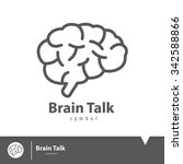 brain talk icon symbol. logo... | Shutterstock .eps vector #342588866