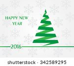 happy new year 2016.new year... | Shutterstock .eps vector #342589295