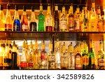 paris   dec 23  2013  bottles...   Shutterstock . vector #342589826
