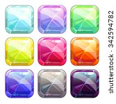 colorful crystal square buttons ...