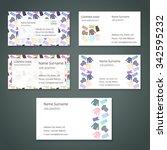 set of white vector business... | Shutterstock .eps vector #342595232