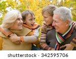 grandparents and grandchildren... | Shutterstock . vector #342595706