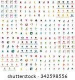 logo huge mega collection ...   Shutterstock .eps vector #342598556