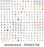 logo huge mega collection ...   Shutterstock . vector #342601736