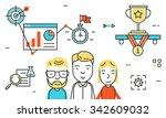 flat line design vector... | Shutterstock .eps vector #342609032