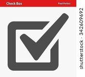 check box icon. professional ... | Shutterstock .eps vector #342609692
