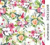 watercolor seamless pattern... | Shutterstock . vector #342611648