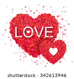 red heart with confetti design. ... | Shutterstock .eps vector #342613946