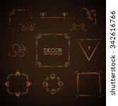 elegant page decoration element ...   Shutterstock .eps vector #342616766