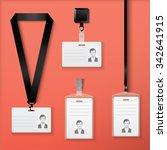 collection of id cards with... | Shutterstock .eps vector #342641915
