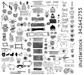 hand drawn vector  illustration.... | Shutterstock .eps vector #342642755