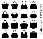 set of women bags  vector... | Shutterstock .eps vector #342643136