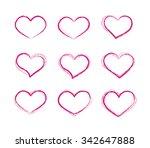 retro scribble grunge vector... | Shutterstock .eps vector #342647888