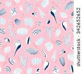 shells illustration seamless...   Shutterstock .eps vector #342652652