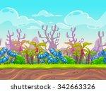 fantasy vector landscape  alien ...