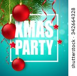 vector christmas party design... | Shutterstock .eps vector #342664328