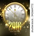 vector 2016 happy new year... | Shutterstock .eps vector #342664772