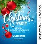 vector christmas party design... | Shutterstock .eps vector #342664922