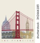 San Francisco Skyline Poster I...