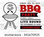 bbq party vector illustration   Shutterstock .eps vector #342670925