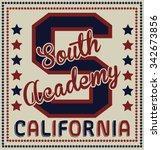 south academy california vector ... | Shutterstock .eps vector #342673856