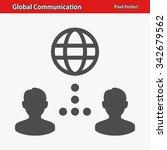 global communication icon.... | Shutterstock .eps vector #342679562