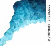 blue polygonal mosaic... | Shutterstock .eps vector #342683222