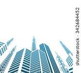 antennas on buildings in the... | Shutterstock .eps vector #342684452