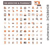 medical and health care  icons  ... | Shutterstock .eps vector #342686438