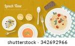 vector cooking time... | Shutterstock .eps vector #342692966