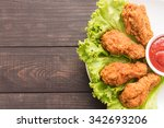 fried chicken drumstick and... | Shutterstock . vector #342693206