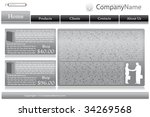 collection of templates of... | Shutterstock .eps vector #34269568