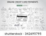 online credit card payment... | Shutterstock . vector #342695795