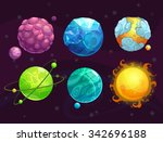 Cartoon Fantasy Alien Planets...
