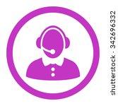 call center woman vector icon....   Shutterstock .eps vector #342696332