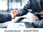 business people shaking hands | Shutterstock . vector #342697895