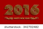 decorative new year 2016 text... | Shutterstock .eps vector #342702482