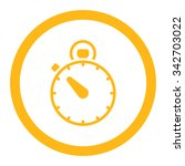 stopwatch vector icon. style is ... | Shutterstock .eps vector #342703022