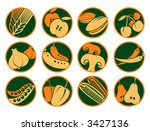 a set of food icons | Shutterstock .eps vector #3427136