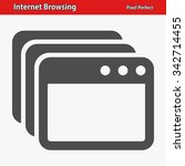 internet browsing icon.... | Shutterstock .eps vector #342714455